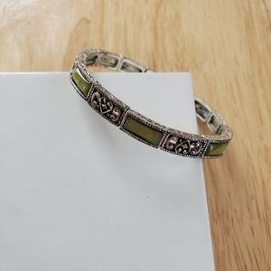 1928 Green Art Deco Bracelet